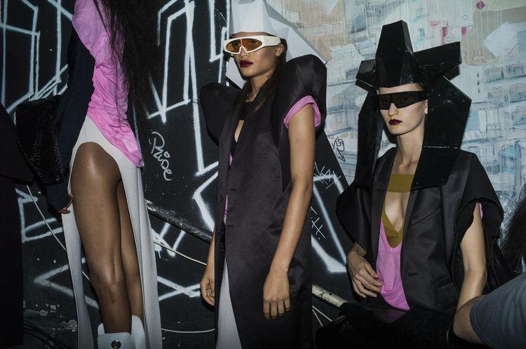 Fashion Week à Paris. Collection printemps été 2020. Défilé Rick Owens au Palais de Tokyo. First View dans les Backstage.